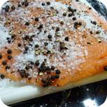 Graved Lachs - Lachs mit Salz & Pfeffer