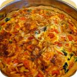 Quiche mit Gorgonzola und Spinat