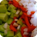 Griechischer Salat mit Kritharaki