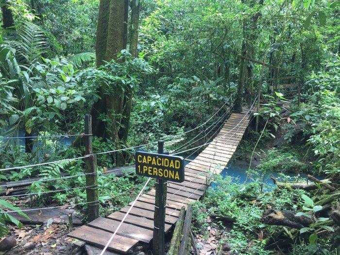 Rio Celeste Brücke_Costa Rica