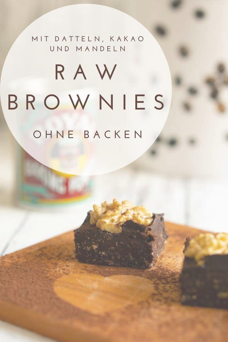 Leckere & saftige Brownies ohne Backen