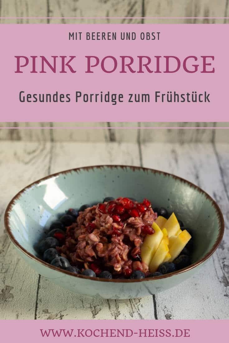 Gesundes Porridge zum Frühstück Pinterest