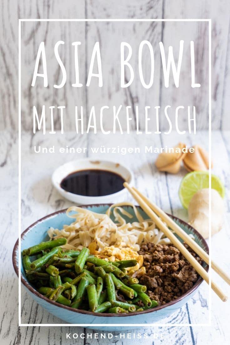 Asia Bowl mit Hackfleisch und Bohnen