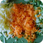 Gemüsepuffer mit Kräuterquark - Gemüse