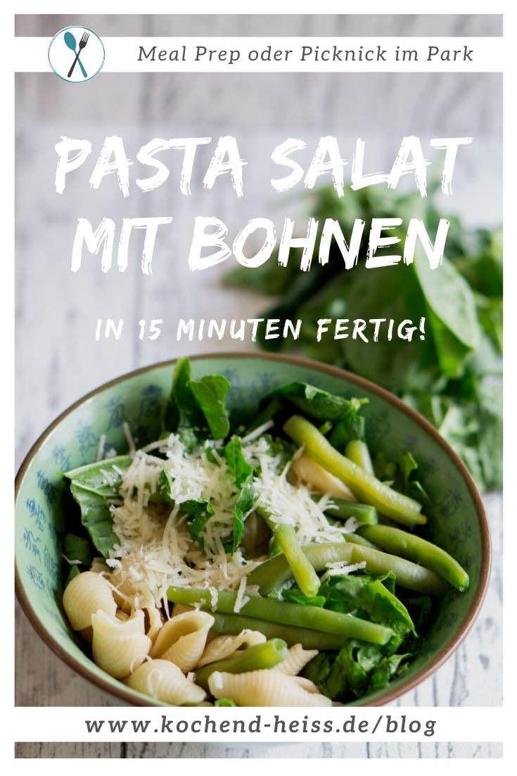 Pasta Salat mit Bohnen