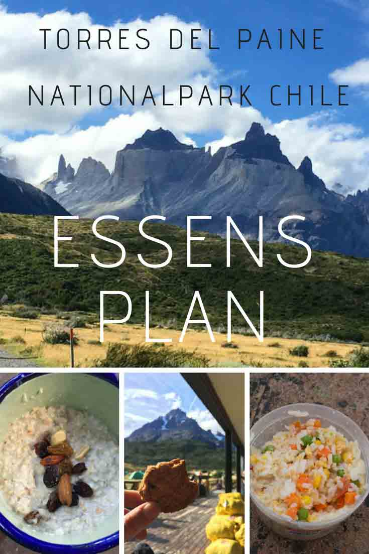 Essen im Torres del Paine Nationalpark