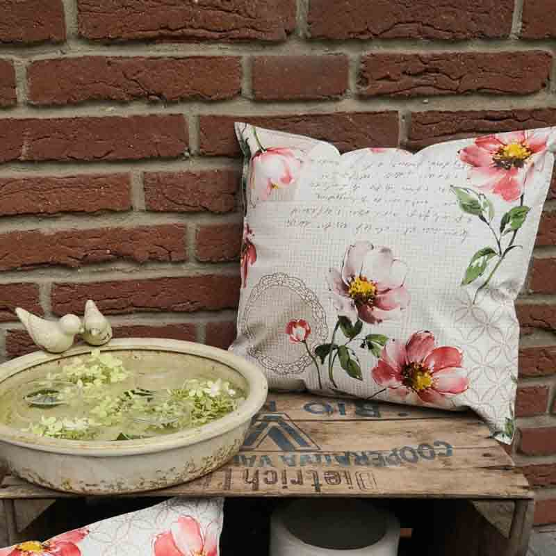 Outdoorkissen Blume Romantik